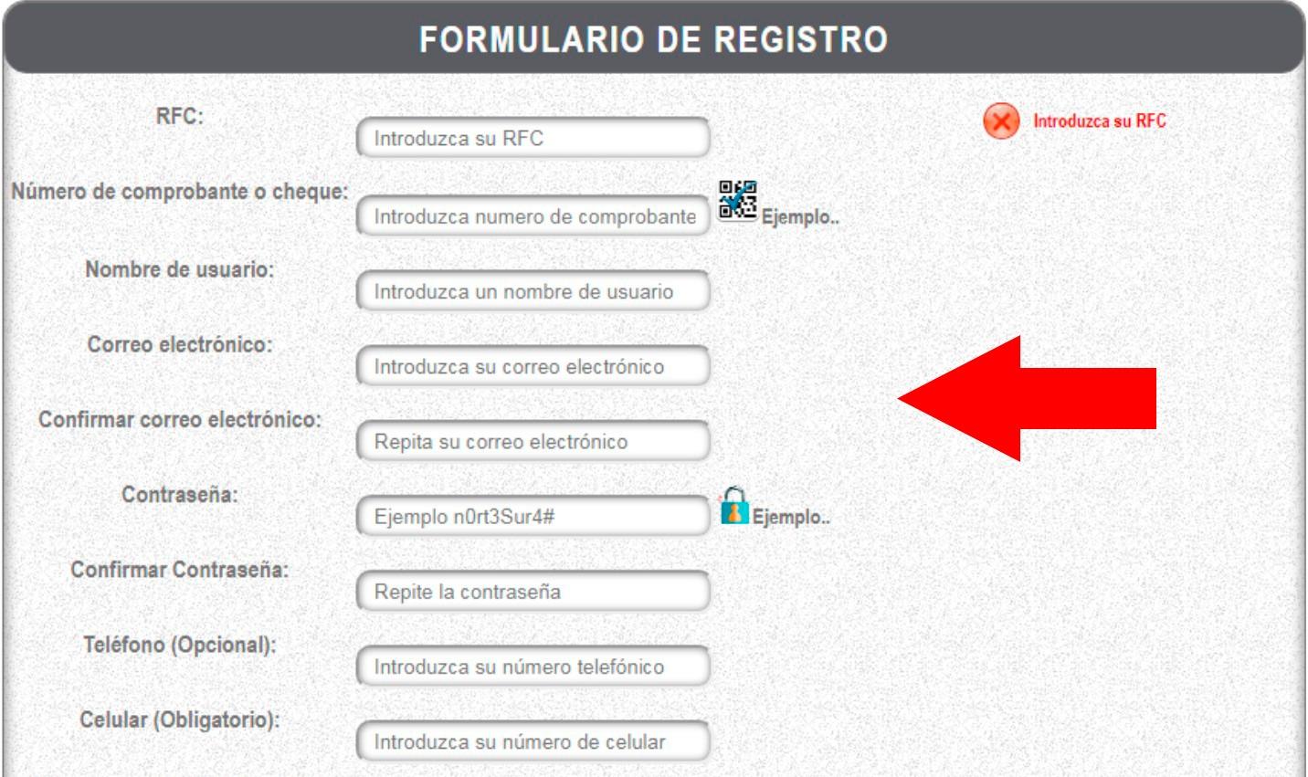 formulario registro para mi portal ieepo