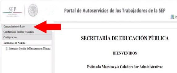 Mi Portal Autoservicios SEP: Cómo conseguir un recibo 2